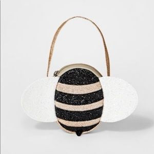 Girls Sparkle Bee Purse Bag + Large Bow Clip